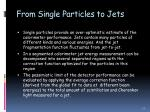 from single particles to jets