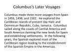 columbus s later voyages