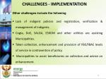 challenges implementation2