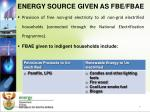 energy source given as fbe fbae1