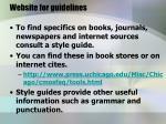 website for guidelines