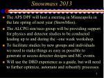 snowmass 2013