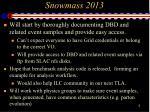 snowmass 20131