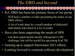 t he dbd and beyond