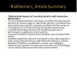 katherine s article summary
