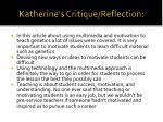 katherine s critique reflection