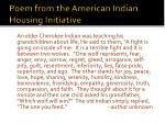 poem from the american indian housing initiative