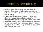 public scholarship inquiry