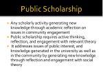 public scholarship