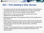 og1 first meeting in oslo norway