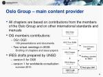 oslo group main content provider