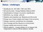 status challenges