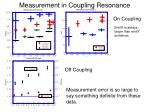 measurement in coupling resonance