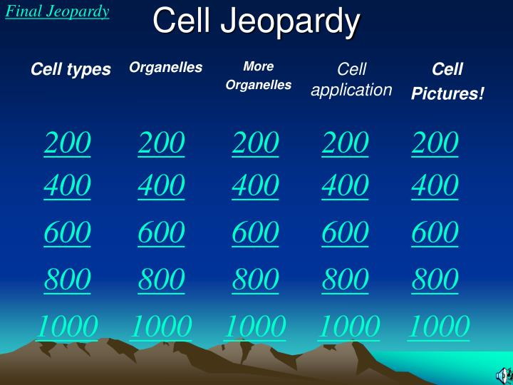 cell jeopardy n.