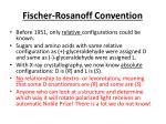 fischer rosanoff convention