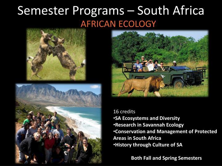Semester Programs – South Africa