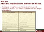 web 2 0 interactive applications and platforms on the web