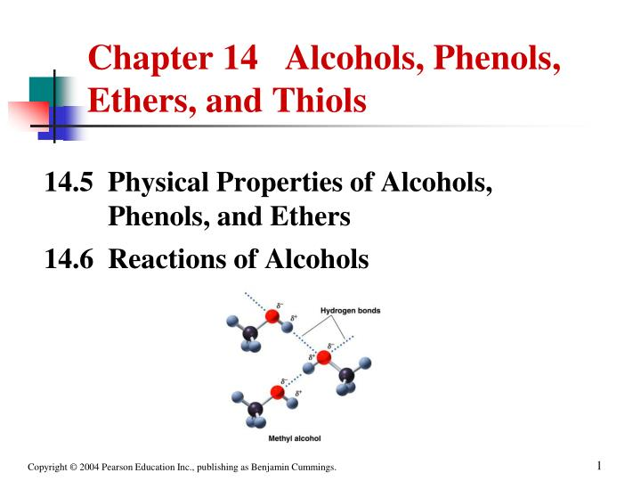 chapter 14 alcohols phenols ethers and thiols n.