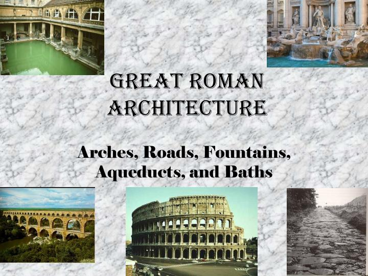 great roman architecture n.