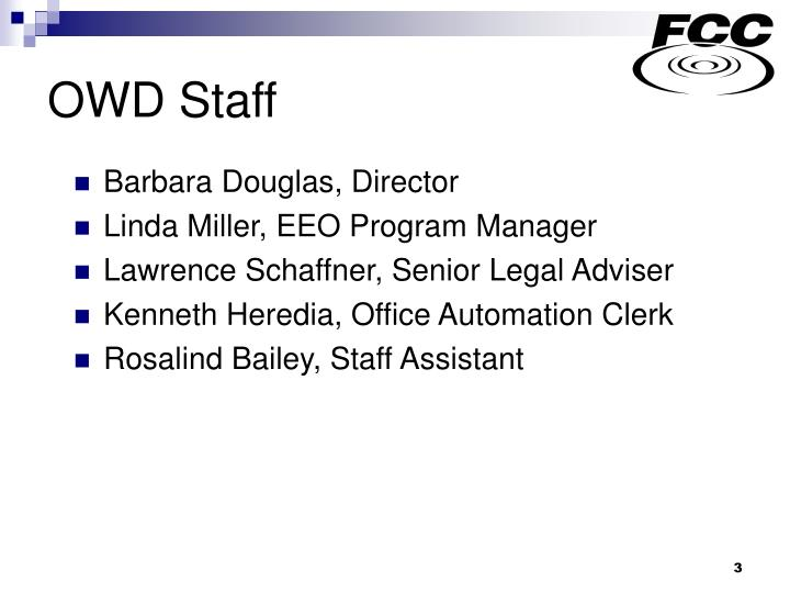 Owd staff