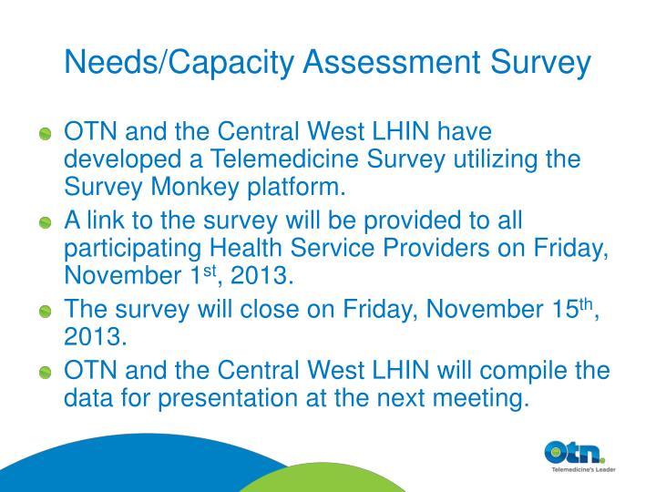 Needs/Capacity Assessment Survey