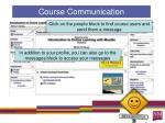 course communication