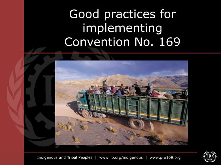 good practices for implementing convention no 169 n.