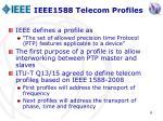ieee1588 telecom profiles