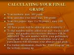 calculating your final grade