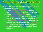 precedence for the allocation of symbols 2