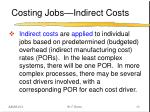 costing jobs indirect costs