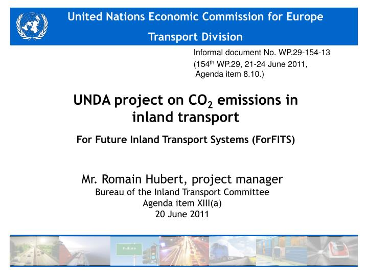 unda project on co 2 emissions in inland transport for future inland transport systems forfits n.