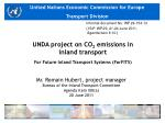 unda project on co 2 emissions in inland transport for future inland transport systems forfits