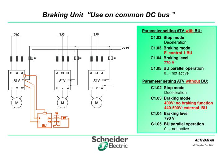 braking unit use on common dc bus n.