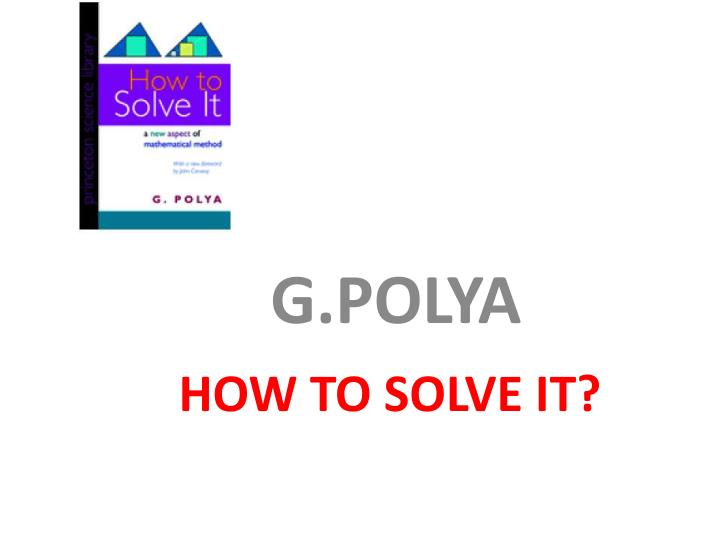 how to solve it n.