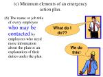 c minimum elements of an emergency action plan5