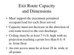 exit route capacity and dimensions