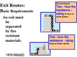exit routes b asic requirements