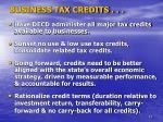 business tax credits