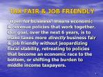 tax fair job friendly