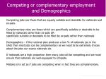 competing or complementary employment and demographics