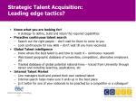 strategic talent acquisition leading edge tactics