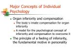 major concepts of individual psychology