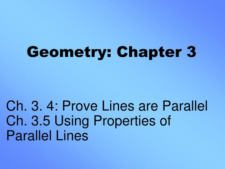 geometry chapter 3 n.