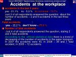 accidents at the workplace
