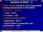 activity of wcc 2