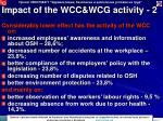 impact of the wcc wcg activity 2