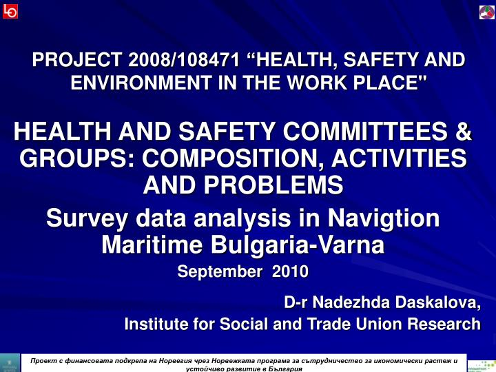 project 2008 108471 health safety and environment in the work place n.