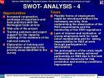 swot analysis 4