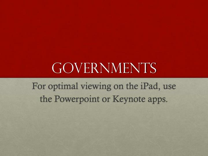 governments n.